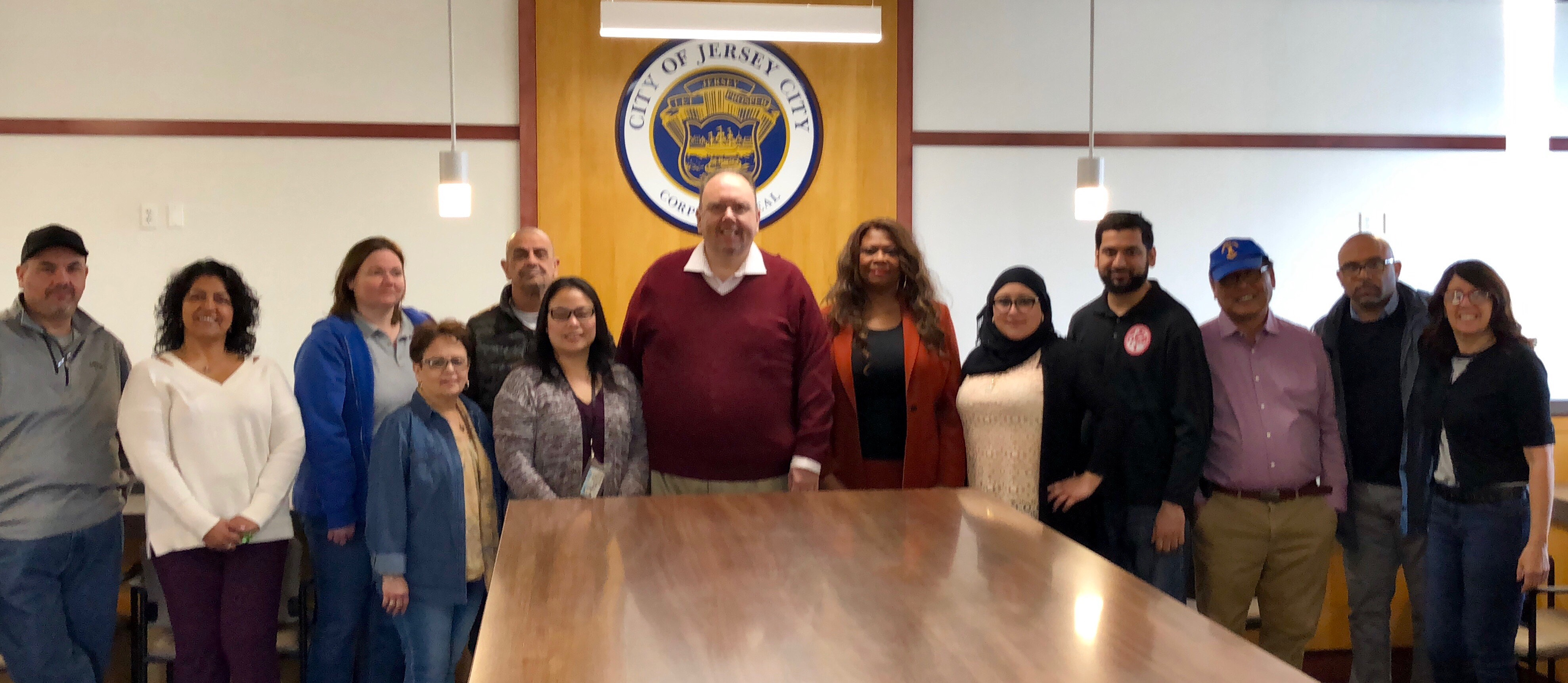 Division Director Boor and staff members