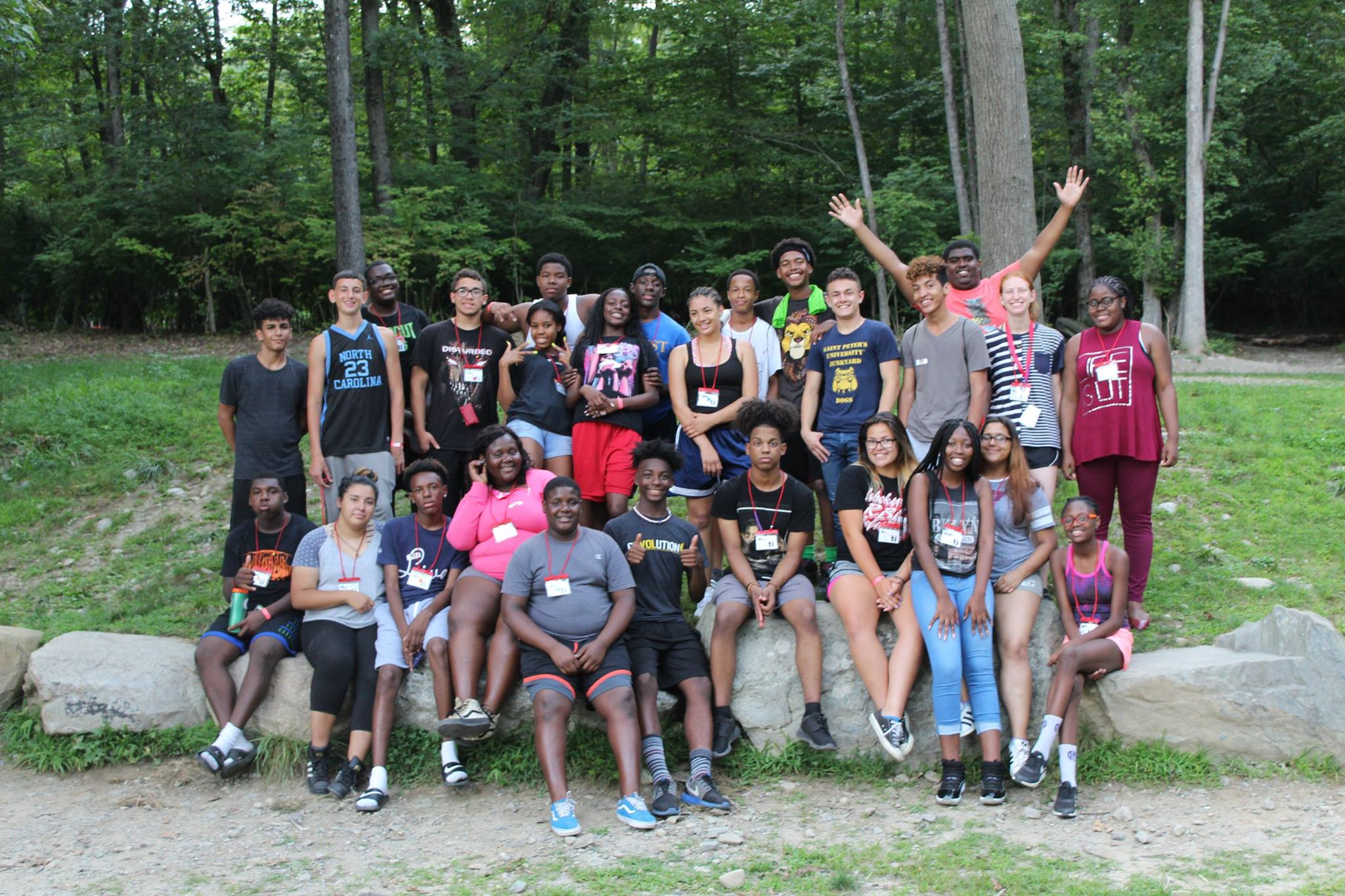 Students from Jersey City at the 2017 LMTI Summer Leadership Conference at Camp Mason in Hardwick, NJ.