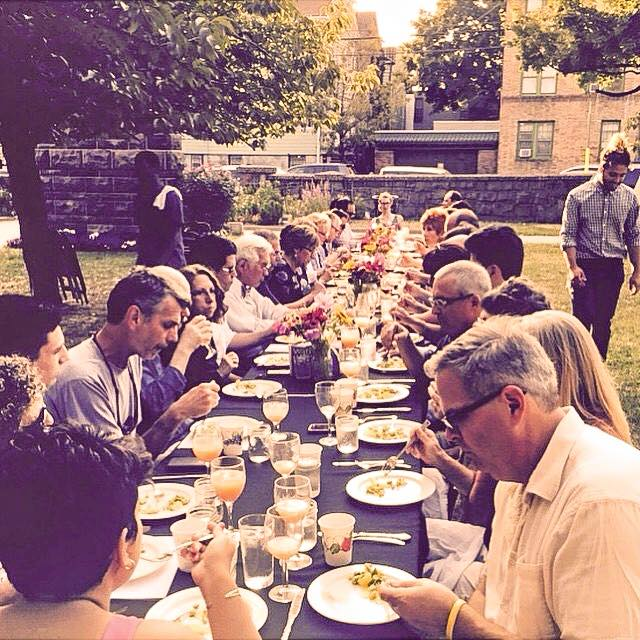Neighbors & Friends gather for a three course meal in the Park. Proceeds benefit the park