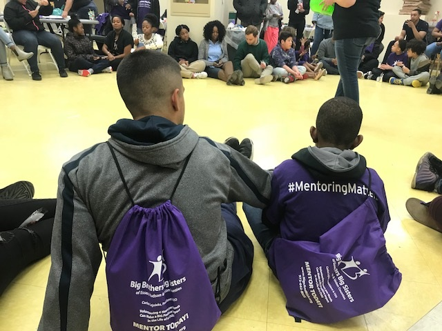 A male mentoring relationship from enrichment night