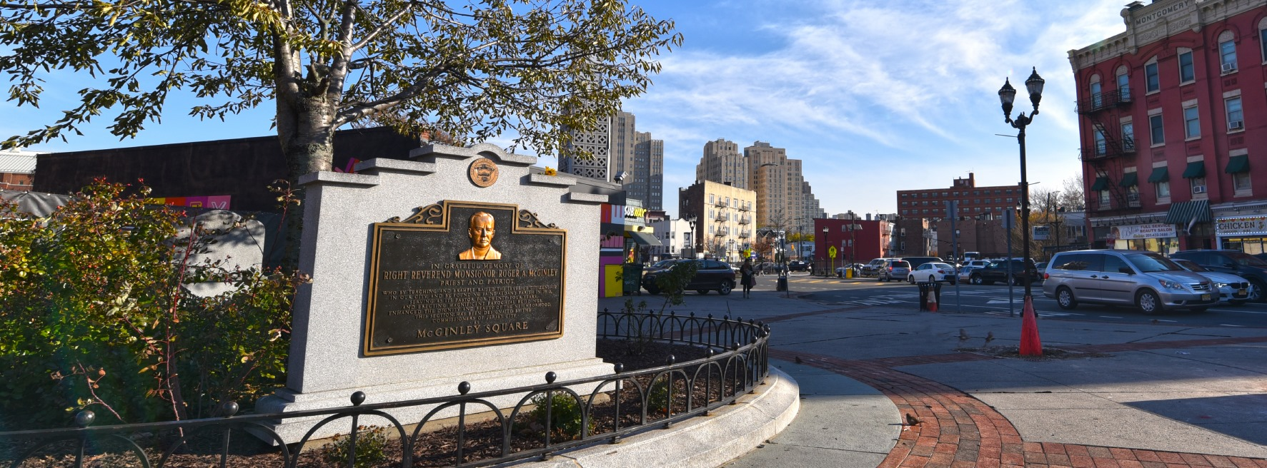 McGinley Square Plaza, the Heart of Jersey City.