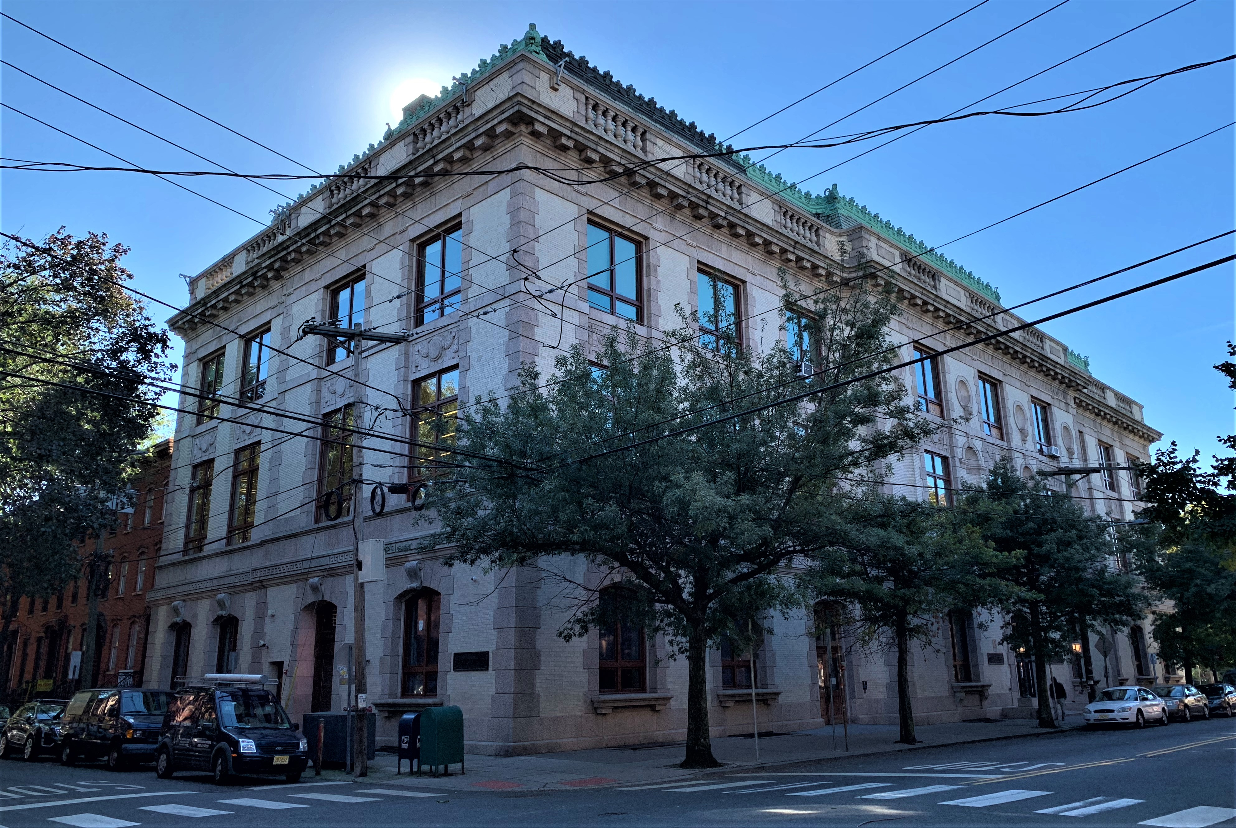This is the Main Library on Jersey Ave. JCFPL has 9 other branch locations throughout the City!